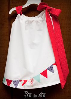 4th of July Girls Bunting Dress or Top