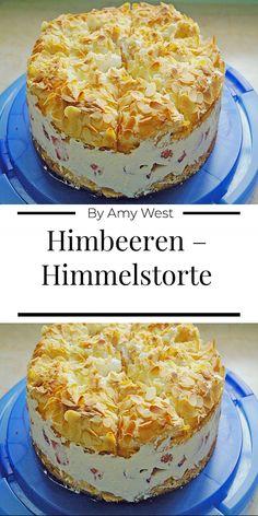 Himbeeren – Himmelstorte - Zutaten 4 Ei(er) getrennt 100 g Butter 300 g Zucker 2 EL Milch 125 g Mehl Pck. Easy Cake Recipes, Dessert Recipes, Cake Ingredients, Food Cakes, Chip Cookies, Vanilla Cake, Vanilla Sugar, Raspberry, Bakery