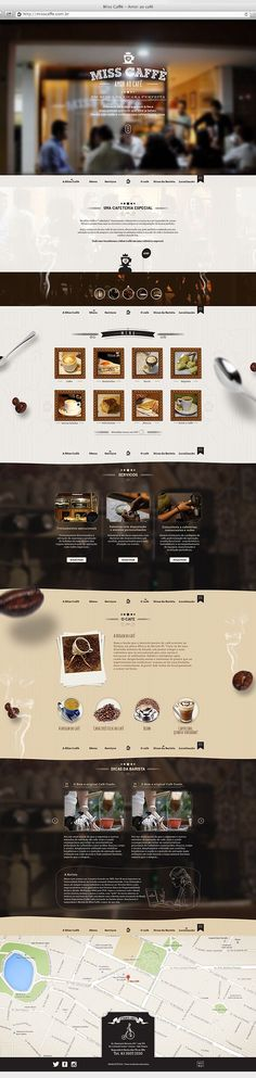 Website for cafeteria in João Pessoa / Paraíba / Brazil. We try to translate the whole experience and the warm atmosphere of the cafeteria. With information on the cafeteria menu, service, coffee, plus tips from baristas prepared especially for coffee co… Design Sites, Food Web Design, Ux Design, Page Design, Layout Design, Design Agency, Packaging Inspiration, Webdesign Inspiration, Website Layout