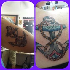The Wife and I got matcing anchor tattoos by Shane McCormick @ The Skinworks Tattoo Shop in Bossier City La.