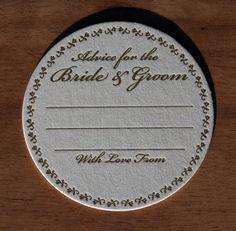 60 Advice for the Bride & Groom Letterpress by LetterpressArt, $68.00