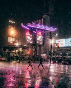 Rainy summer nights in Toronto Canada [OC] 1630x2048