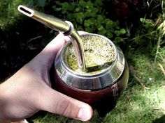 There is a tea in Argentina called mate, which is served in a gourd, often with an elegant silver straw (a bombilla). The etiquette for drinking mate is to take a sip and pass the gourd to your neighbor; they do the same in turn. Mate Drink, Te Chai, Yerba Mate Tea, Tea For One, Types Of Tea, Herbal Tea, Benefit, At Least, Health