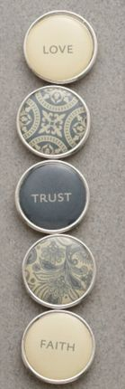 Faith, Trust, Love Mini Charm Set $7.95