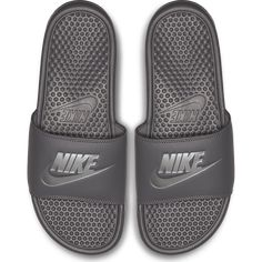 Classic soccer sandal from Nike. Nike Benassi Just Do It Sandal is ideal for post-game comfort. &ltBR&gtOne-piece synthetic leather strap with a jersey lining. Nike Benassi, Ciabatta, Just Do It, Pool Slides, Purses, Classic, Leather, Accessories, Shoes