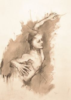 "guy denning - a drawing a day:""Allegory of uselessness - Dresden (the hand of man)."""