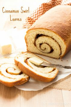 Cinnamon Swirl Bread Recipe | Homemade bread swirled with sweet brown sugar, cinnamon, melted butter, and toasted pecans | www.themessybakerblog.com
