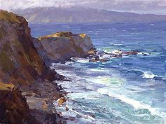 From Maui to Molokai - oil painting by Kevin Macpherson Seascape Paintings, Landscape Paintings, Watercolor Paintings, Watercolor Artists, Indian Paintings, Art Paintings, Painting Art, Pictures To Paint, Art Pictures