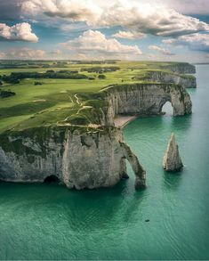 Breathtaking cliffs ~ Étretat, France by @henry_do