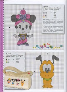 ♥Meus Gráficos De Ponto Cruz♥: Disney Cuties