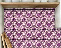 Kitchen/Bathroom Indian Blue pottery tile/wall decals by Bleucoin