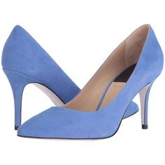 Paul Smith Ivey (Cornflower) High Heels ($205) ❤ liked on Polyvore featuring shoes, pumps, blue, leather slip on shoes, high heel pumps, blue high heel shoes, leather shoes and leather pumps