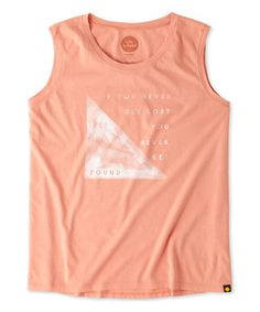 Look what I found on #zulily! Tawny Peach 'Get Found' Muscle Tee #zulilyfinds