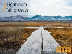 free fall lightroom presets poster mountain