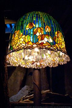 HotR : Stained Glass Lamp 01 by taeliac-stock on DeviantArt Stained Glass Lamp Shades, Tiffany Stained Glass, Tiffany Glass, Stained Glass Art, Stained Glass Windows, Mosaic Glass, Tiffany Lamp Shade, Cool Lamps, Antique Lamps