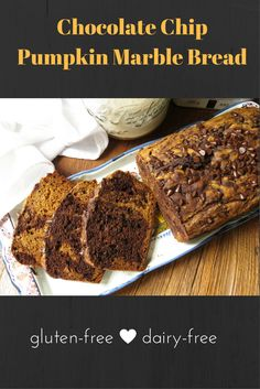 Naturally sweet pumpkin (without all the heavy spices you normally find in pumpkin bread) plus a marbling of chocolate and mini chocolate chips makes this your go-to #pumpkin bread of the season!