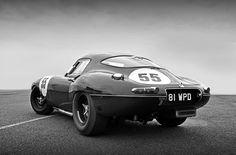 most beautiful post-war automobile (Sayer low-drag E-type Jaguar)