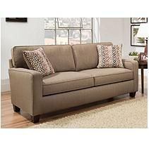 Sofa Smart Raylie Nutmeg Sofa With Two Reversible Accent Pillows