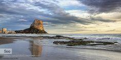 Arenal Beach at twilight (Calpe Alicante Spain). by FranciscoGarciaRios