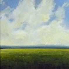 Original Oil Painting CUSTOM Modern Abstract Sky Cloud Field LANDSCAPE Art by J Shears via Etsy
