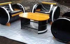 Image associée Car Furniture, Barrel Furniture, Metal Furniture, Repurposed Furniture, Industrial Furniture, Pallet Furniture, Oil Barrel, Metal Barrel, Jerry Can Mini Bar