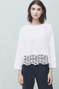 High Street Hits Lace Edges Top, £29.99 | Mango