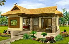 Filipino house design pictures photos of small beautiful and cute bungalow house design ideal for filipino . Simple Bungalow House Designs, Bungalow Haus Design, Small Bungalow, Simple House Design, Bungalow House Plans, Cottage Design, Modern House Plans, Modern House Design, Philippines House Design