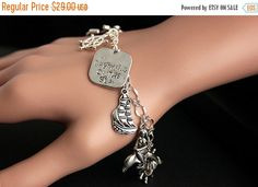 MOTHERS DAY SALE Nautical Bracelet.  Ocean and Sea Charm Bracelet. Sailing Bracelet. Silver Charm Bracelet. Handmade Jewelry. by GatheringCharms from Gathering Charms by Gilliauna. Find it now at http://ift.tt/1W9uD3e!