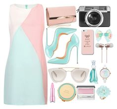 """""""tosca, pink, and baby pink"""" by fifit-widyastuti ❤ liked on Polyvore featuring New Look, Casetify, Prada, Cynthia Rowley, Anna Sui, Kate Spade, Clinique and Dettagli"""