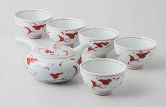 Tokyo Matcha Selection - [Value] Hasami Porcelain : Flower - Japanese Kyusu Tea pot