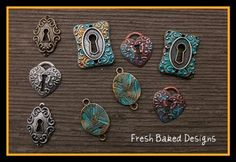 How to add metallic patinas to jewelry elements.