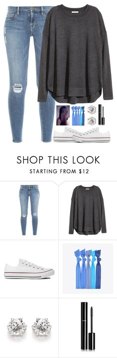 """""""Untitled #548"""" by evieleet ❤ liked on Polyvore featuring Frame, H&M, Converse, Popband and Chanel"""