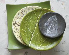 Купить Тарелки. Керамика, фаянс, фарфор - зелёный, Керамика, авторская керамика, тарелки, керамика на заказ