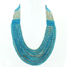 Blue and Silver multistrand necklace @ R199
