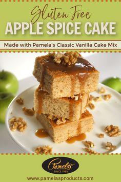Pamela's has set the standard in gluten-free foods since Best Gluten Free Recipes, Gluten Free Cakes, Gluten Free Desserts, Easy Desserts, Delicious Desserts, Dessert Recipes, Healthy Desserts, Easy Vanilla Frosting, Vanilla Cake Mixes