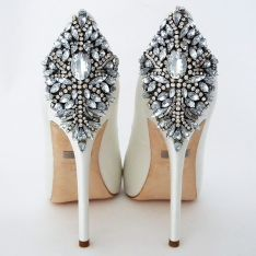 Badgley Mischka Kiara Wedding Shoes, White SALE!!