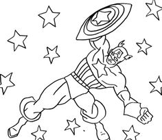 cartoon captain america coloring page - Captain America Pictures To Color