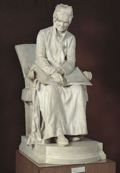 Strobl, Alajos I Our Mother, 1894, white Carrara Marble 161 cm I This is one of the best-known, most often reproduced works of 19th-century Hungarian sculpture. The old woman modelled with great affection and reverence was the artist's mother Karolina Wirosztek. She married twice, her grand-daughter from her first marriage, Lujza Kratochwill became Alajos Stróbl's wife later. Her second husband was József Stróbl, a bailiff at the Habsburg archduke Albrecht's estate in Liptó county. The…