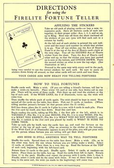 Fortune Teller, Vintage, How to | Flickr - Photo Sharing!