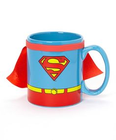 Saving the day from evildoers can make a superhero crave a hot cup of coffee. But no ordinary mug can preserve that delicious, steaming, caffeinated concoction quite like this caped Superman mug here.