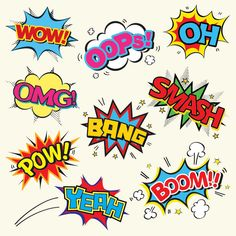 Set of comic text, pop art stock vector (royalty free) .- Set von Comic Text, Pop Art Stock-Vektorgrafik (Lizenzfrei) 198890603 Set of comic text, pop art style – buy this stock vector at shutterstock and find more pictures. Images Pop Art, Bd Pop Art, Comic Text, Pop Art Fashion, Pop Art Wallpaper, Action Words, Comic Kunst, Poster S, Art Plastique