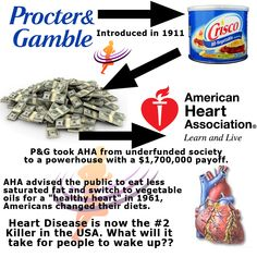 Procter & Gamble brided American Heart Association - Result Increased Heart Disease - http://empowerhealthcoach.net/procter-gamble-brided-american-heart-association-result-increased-heart-disease/