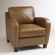Latte Leather Mason Chair | World Market... Our chair! Love it.