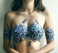 Beautiful Body Painting by Claudiasahuquillo Cancer Tattoos, Sexy Tattoos, Body Art Tattoos, Girl Tattoos, Tatoos, Tattoo Art, Tattoo Pics, Feather Tattoos, Hipster Vintage