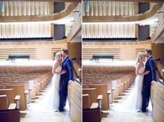 Royal Conservatory of Music wedding couple in stunning theatre Toronto Wedding, Wedding Venues, Conservatory, Wedding Couples, Theatre, Boston, Reception, Bridesmaid, Stylish