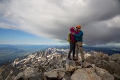 Whether it's on top of a mountain in Grand Teton National Park or at an old western Shoutout. Grand Teton National Park, National Parks, Rustic Inn, Jackson Hole Wy, Jackson Hole Mountain Resort, Balloon Company, Balloon Flights, Proposal Photos, Dance The Night Away
