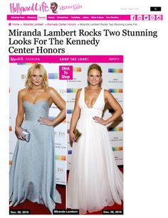 HOLLYWOODLIFE - Press review about last night in #Washington Lovely country singer #MirandaLambert in White Etereal #PeterLangner gown