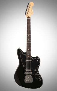 Fender Standard Jazzmaster HH Electric Guitar, with Rosewood Fingerboard, Black Electric Guitar Kits, Fender Guitars, Music Stuff, Sexy Ass, Body Shapes, Musical Instruments, Dreams, Black, Gadgets