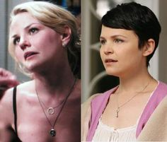 Pyrrha  Looks like Jennifer Morrison will be wearing our Swan necklace again on the new season of Once Upon a Time and Ginnifer Goodwin (who plays Snow White) will be wearing our Key necklace!