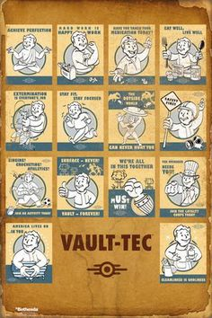 Fallout 4 Vault Tec Compilation - Official Poster #fallout #poster #gaming